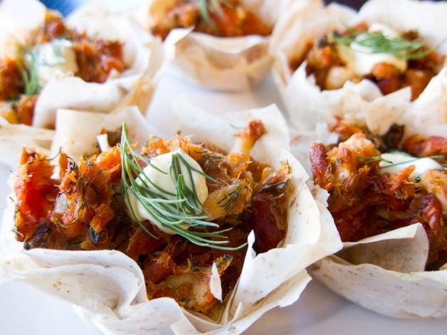 Salmon Tarts with leftover Fillo