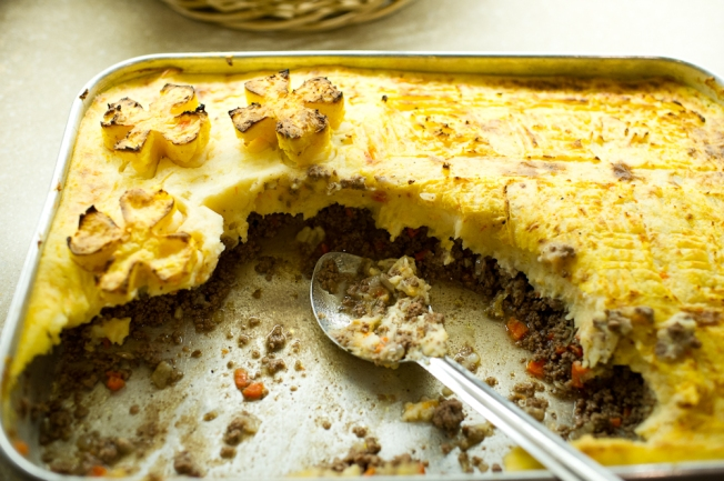 Families seemed to enjoy the food - especially the Shepherd's Pie